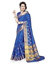 Meghdoot Artificial Silk Saree (ETHNIC_MT1373_ROYALBLUE Woven Royal Blue Colour Sari)