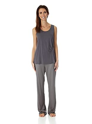 HANRO Damen Unterhemd, 7368 (Blaugrau)