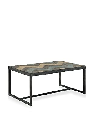 Shine by S.H.O. Marin Coffee Table (Antique Black/Green/Old Elm)