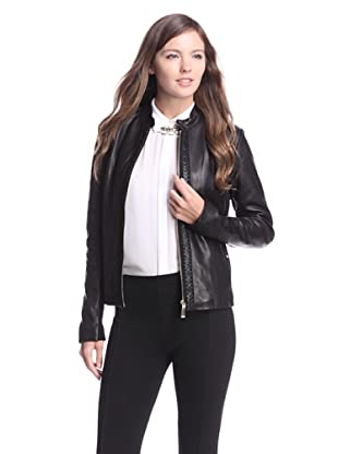 Elie Tahari Women's Elsa Leather Jacket (Black)