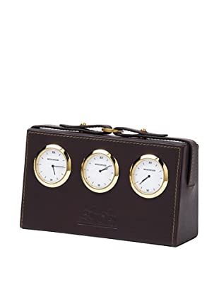 Wedgwood Equestria World Desk Clock, Leather
