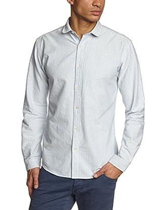 Selected Homme Camisa Hombre Huainan (Azul Claro)