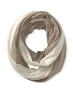 Cullen Women's Colorblock Cashmere Infinity Scarf, Driftwood/Ivory
