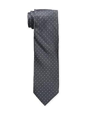 Bruno Piattelli Men's Slim Dotted Tie, Grey
