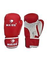 Maizo Striker Training Gloves 12 Oz Boxing Gloves (M, Red, White)