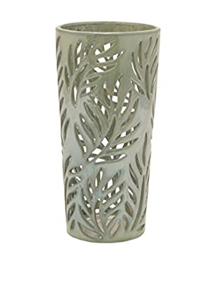 Three Hands Ceramic Fern Vase, Green