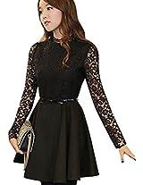 OnlyUrs Elagence Slim Lace Joint Women Dress