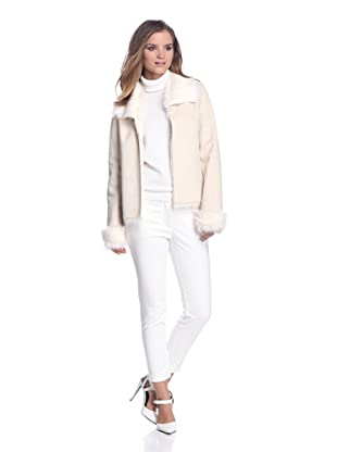 Calvin Klein Women's Reversible Faux Shearling Coat (Birch)
