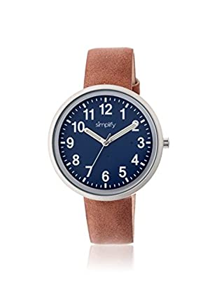 Multi Women's SIM2602 The 2600 Brown/Navy Leather Watch