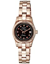 Rotary Analog Brown Dial Women's Watch-LB0815316