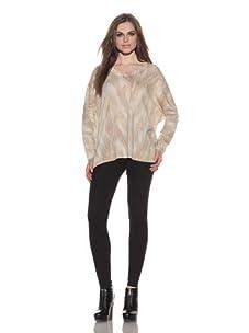 Torn by Ronny Kobo Women's Audrey Oversized Sweater (Ivory)