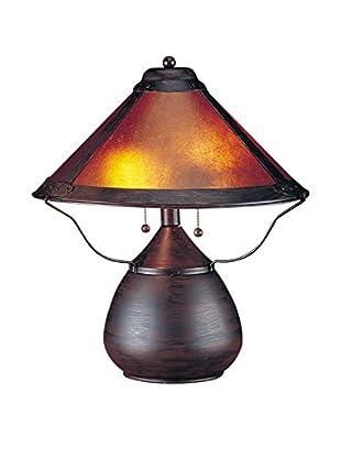Bristol Park Lighting 2-Light Table Lamp With Mica Shade, Rust