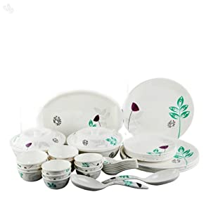 Servewell Urmi Leafy 37 Pcs Dinner Set