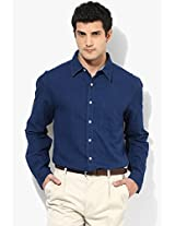 Navy Blue Regular Fit Casual Shirt Allen Solly