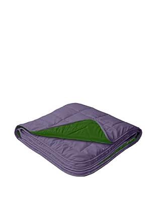 Relleno Nórdico Reversible De Microfibra 300 g (Púrpura / Verde)