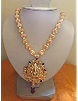Necklaces - Kempu Temple Jewellery Antique Beaded Necklace Gold Plated