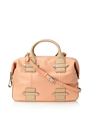 Allibelle Women's Beltway II Satchel (Coral/Natural)