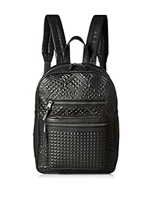 ASH Women's Danica Geometric Embossed Small Backpack, Black