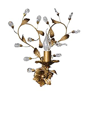 De-sign Lights Wandleuchte Bouquet gold/braun