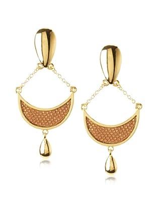 Kara Ross Chestnut Gold Crescent Earrings
