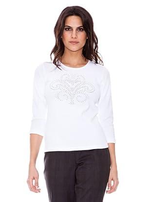 Steilmann Camiseta Flor de Lis (blanco)