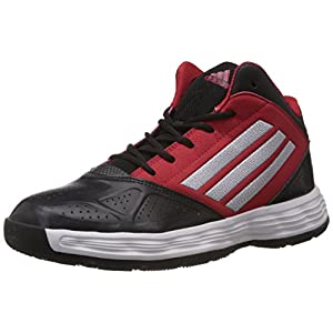 Classic Black, White & Red Basketball Style Shoes for Men by Adidas - Hustle Edition - UK Size 12