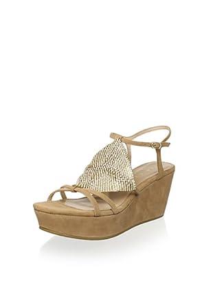Lola Cruz Women's Wedge Sandal (Nude)