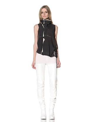 Ann Demeulemeester Women's Funnel Collar Top (Black)