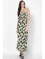 Petite Palm Bandeau Maxi Dress
