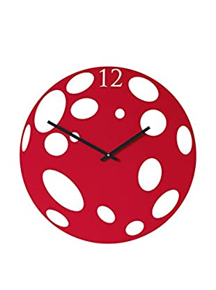 Diamantini & Domeniconi Reloj De Pared Moon Rojo