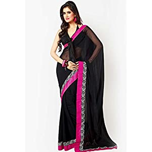 Solids Black Saree