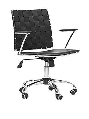 Baxton Studio Vittoria Leather Office Chair