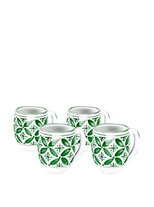 Sobremesa Set of 4 Fez Mugs, Green