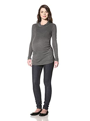 NOM Women's Jules Twisted Top (Charcoal)
