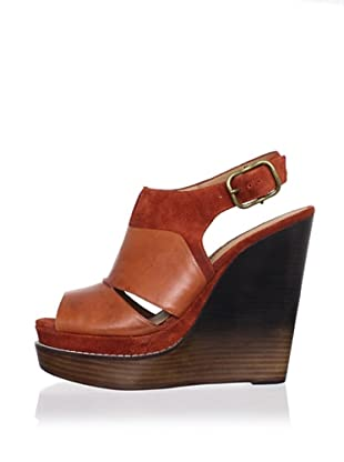 Modern Vintage Women's Liana Wedge Sandal (Brown Rust/Brown)