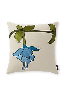 "emma at home Embroidered Linen Pillow, Beryl, 20"" x 20"""