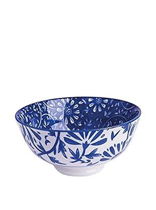 Brunch Time Schüsselchen 6er Set Oriented Flowers blau