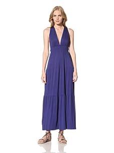 Ceci Women's Deep V-Neck Dress With Twist Back (Royal Blue)