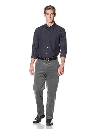 Joseph Abboud Men's Hudson Fit Flat-Front Trousers (Grey)