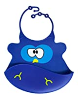 Billy Blue Bird Silicone Baby Bib - Tykes and Tails - Wipeable Food Grade Ultra Flexible Design for Ultra Comfort for your Baby