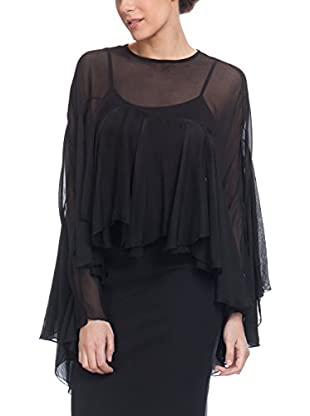 Tantra Seidenbluse With Ruffle Sleeves. Lining Include