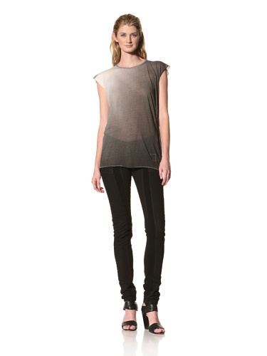 RICK OWENS Women's Cap Sleeve Top (White/Black)