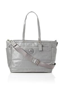Coach Signature Patent Baby Bag, Grey