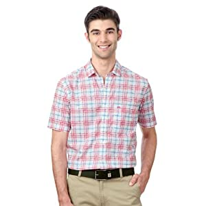 Peter England Checkered Neo Slim Fit Casual Shirt