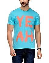 Yepme Men's Blue Graphic Cotton T-shirt -YPMTEES0158_L