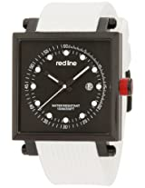 red line Men's RL-50035-BB-01-WA-WHT Compressor 2 Black Dial White Silicone Watch