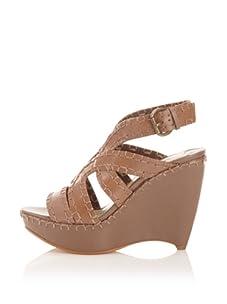 MaxStudio Women's Flyaway Platform Sandal (Hazelnut)