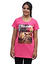 Romano Women Pink Cotton T-shirt