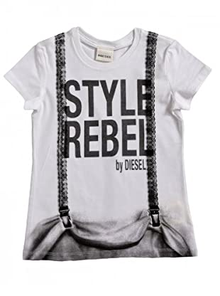 Diesel Kid T-Shirt Taryd (Weiß/Grau)