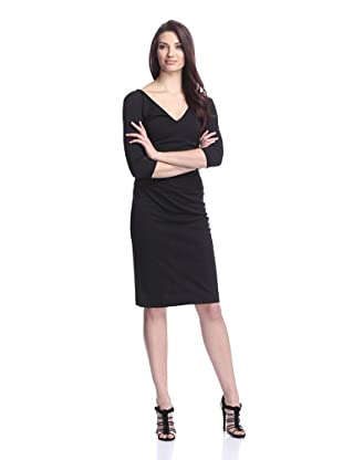 Nicole Miller Women's Cropped Sleeve Dress (Black)